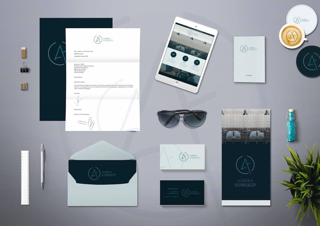 Création identité visuelle pour Aureka