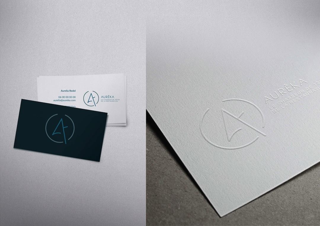 Design logo et papeterie pour Aureka