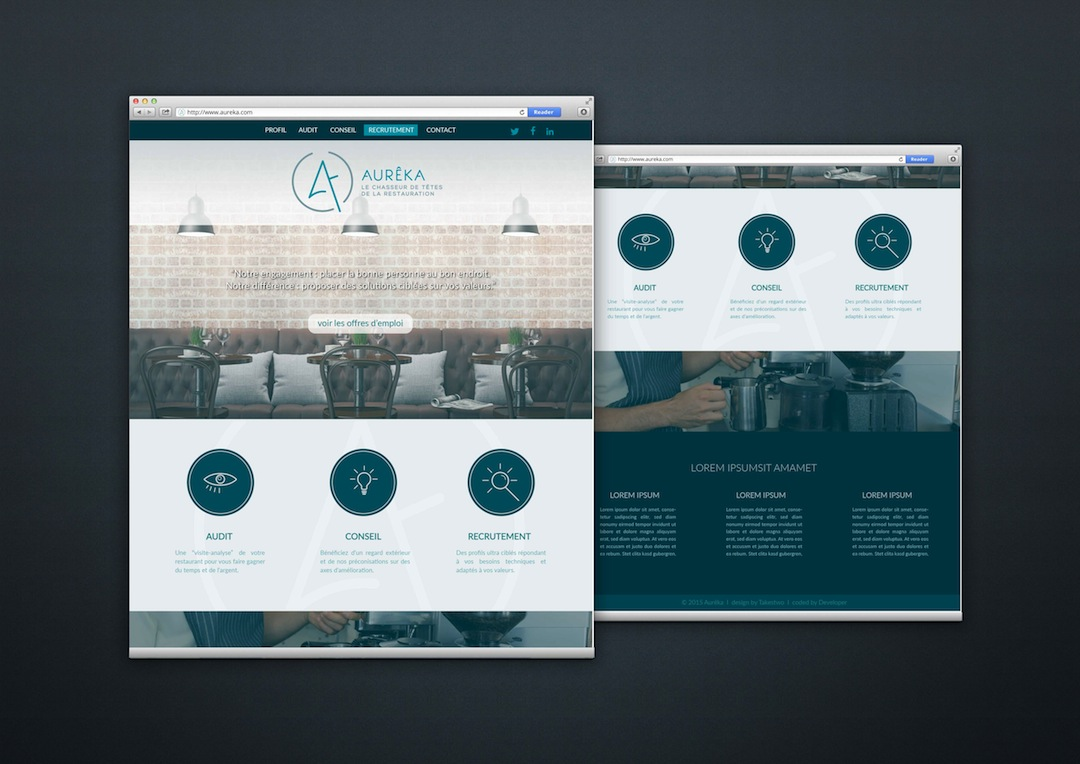 Webdesign pour Aureka