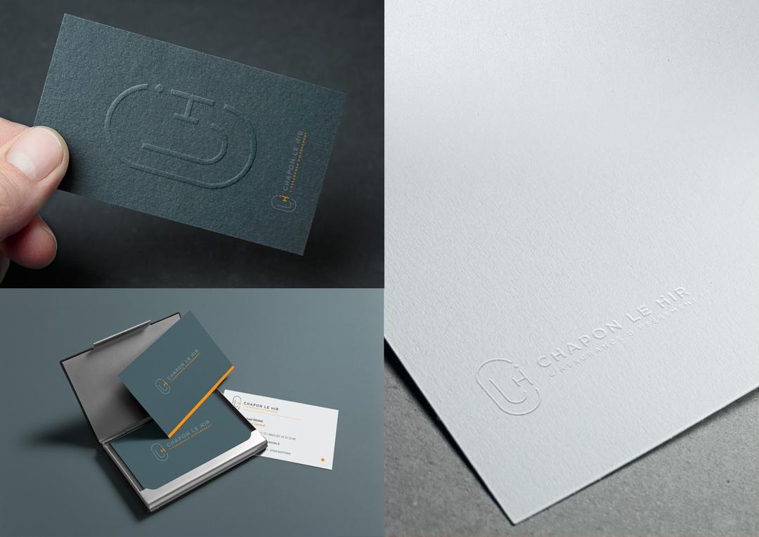 Agence Takestwo : design des cartes de visite de Chapon Le Hir