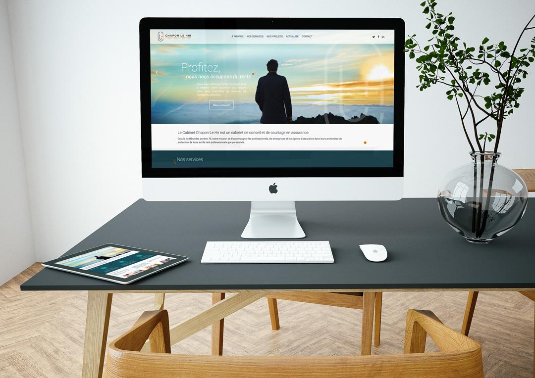 Agence Takestwo : design et développement du site web de Chapon Le Hir