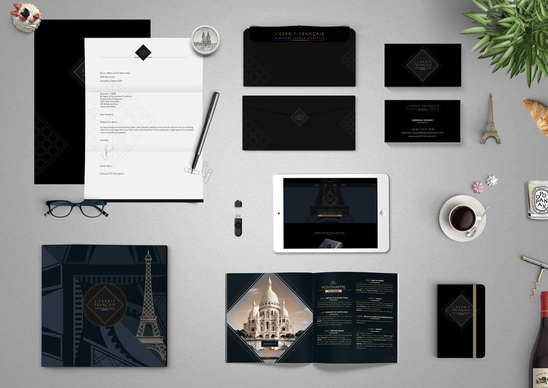 Agence Takestwo : création de l'identité visuelle de L'Esprit Français