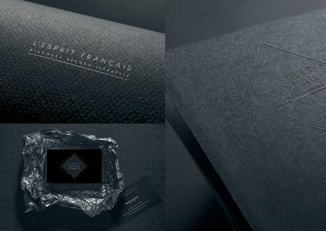 Agence Takestwo : création de logo pour L'Esprit Français