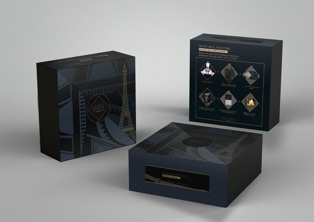 Agence Takestwo : création de packaging pour L'Esprit Français
