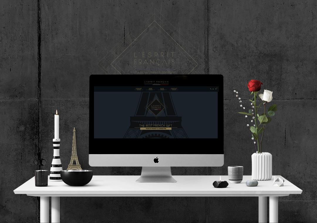 Agence Takestwo : webdesign responsive pour L'Esprit Français