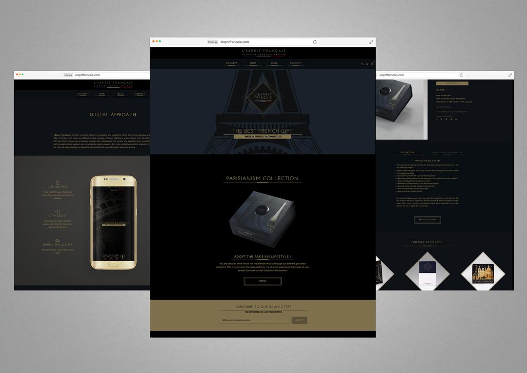Agence Takestwo : création de site web ecommerce et responsive pour L'Esprit Français