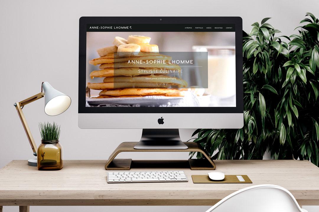 Agence Takestwo : web design pour le site Anne-Sophie Lhomme, styliste culinaire