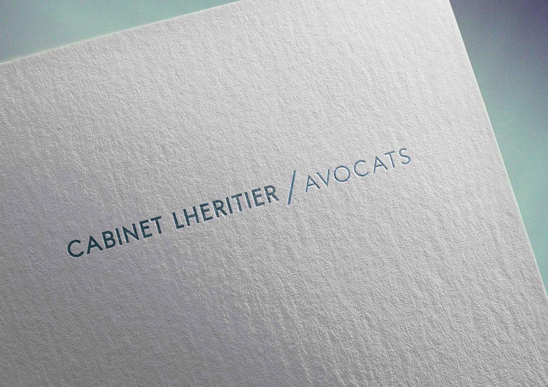 Agence Takestwo : création logo pour le cabinet Lhéritier Avocats