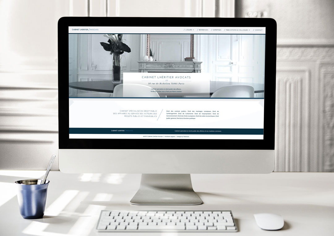 Agence Takestwo : création du site web du cabinet Lhéritier Avocats