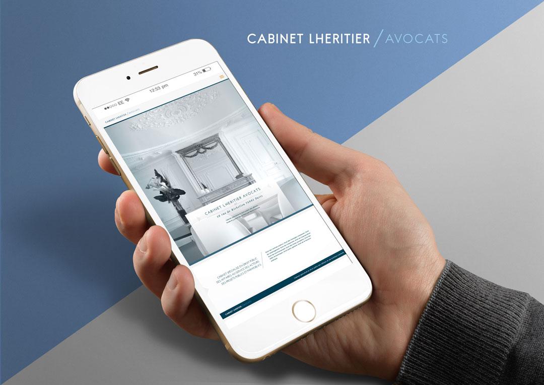 Agence Takestwo : webdesign responsive pour le cabinet Lhéritier Avocats