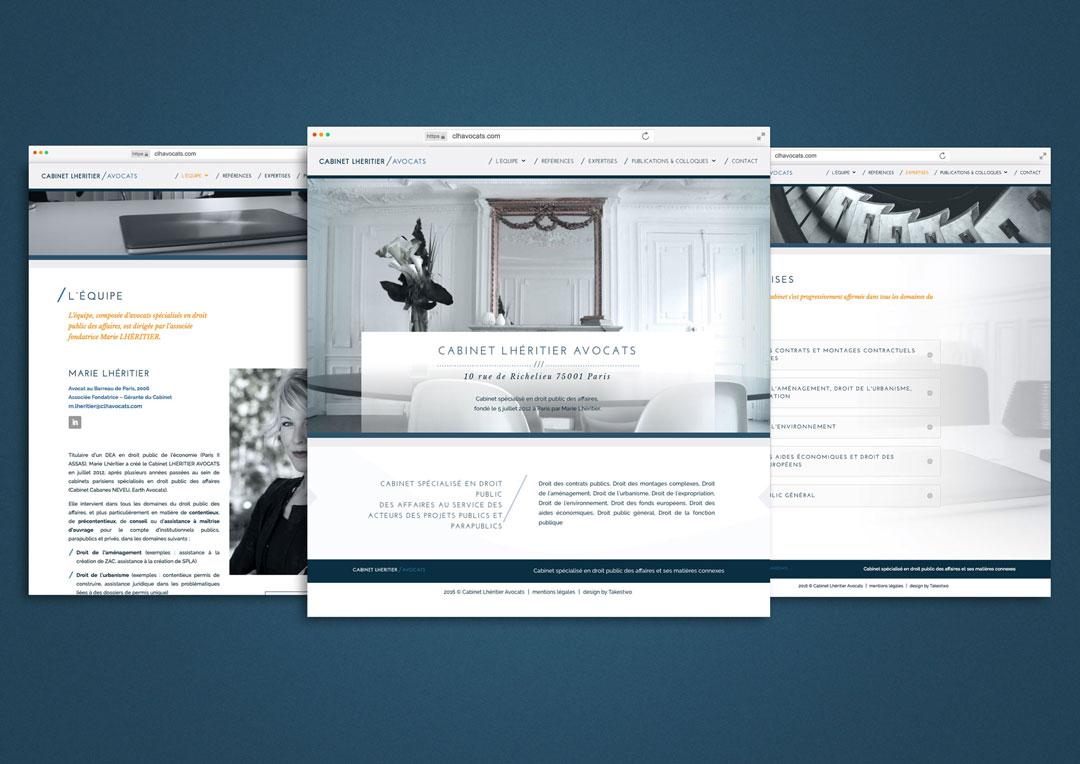 Agence Takestwo : webdesign pour le cabinet Lhéritier Avocats