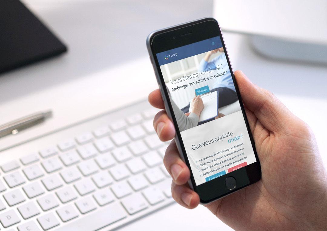 Agence Takestwo : site web responsive pour la plateforme Othrd