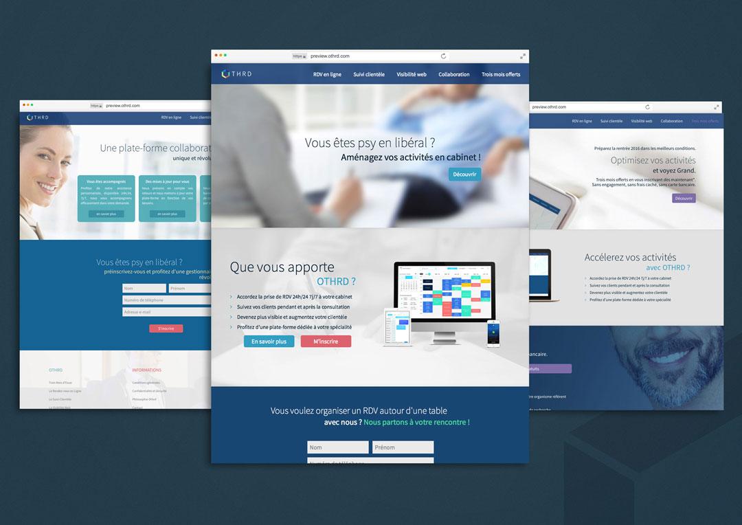 Agence Takestwo : développement site web pour la plateforme Othrd