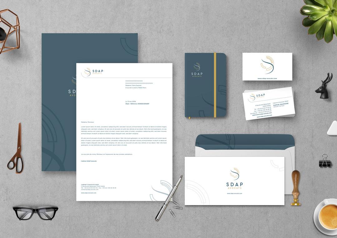 Agence Takestwo : identité visuelle du cabinet d'avocats SDAP