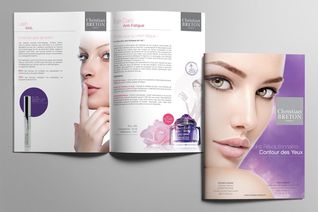 Agence Takestwo : design & édition, catalogue des cosmétiques Christian Breton